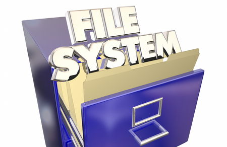 documenting: File System Folders Cabinet Operating Storage Environment Stock Photo