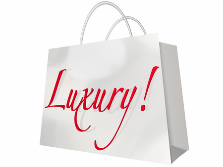 expensive: Luxury Shopping Bag Expensive Exclusive Premium Items Stock Photo