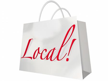 buy local: Local Shopping Bag Home Town Savings Sale