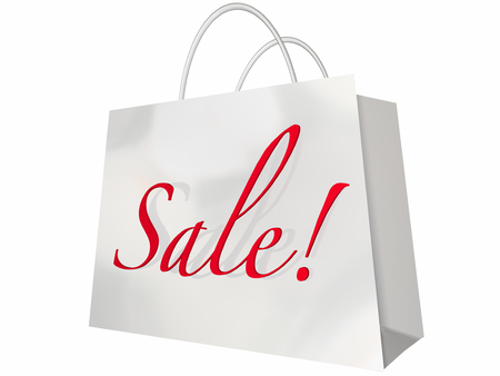 better price: Sale Shopping Bag Customer Store Event Save Money Stock Photo