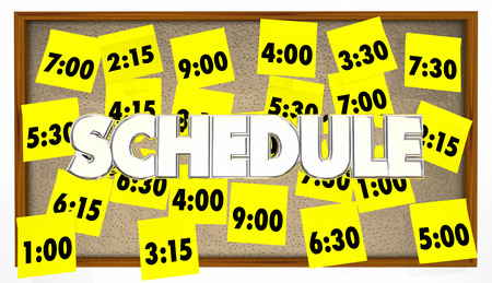 appointments: Schedule Appointments Meetings Reminders Overbooked Sticky Notes Stock Photo