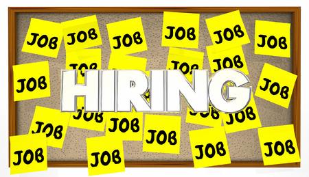 Het inhuren van Jobs Posting Board zoekertje Help Wanted zoeken Work Stockfoto