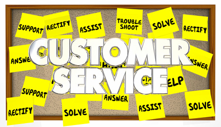 solver: Customer Service Support Help Assistance Solve Problem Sticky Notes