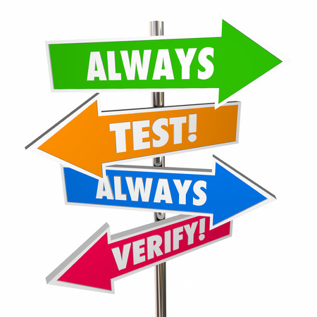 guessing: Always Test Verify Assumptions Hypothesis Theory Signs 3D Stock Photo