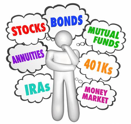 pensador: Asesoramiento financiero pensador nubes de pensamiento que la acción de dinero Inversiones