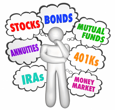 annuities: Financial Advice Thinker Thought Clouds Stocks Money Investments
