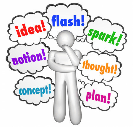 the thinker: Idea Thought Creative Thinking Clouds Thinker Imagination Words