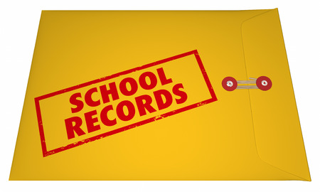 grades: School Records Student File Transcripts Grades College Education 3D Stock Photo