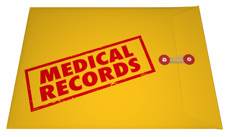 concealing: Medical Records Private Patient Documents Files Sensitive Information 3D