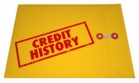 Credit History Report Score Apply Loan Personal Banking Information 3D