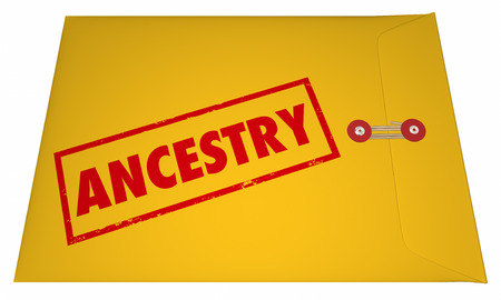 ancestry: Ancestry Family History Research Documents Envelope 3D