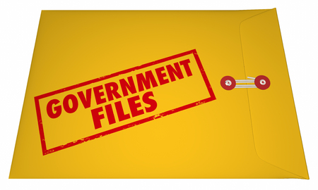 uncovering: Government Files Records Sealed Classified Confidential Envelope Secrets 3D