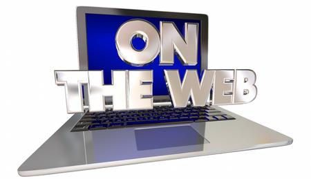 internet site: On the Web Internet Site Online Computer Laptop 3D Words