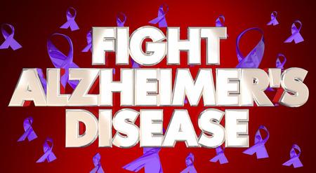 alzheimers: Fight Alzheimers Disease Awareness Ribbons Fundraiser 3D Words