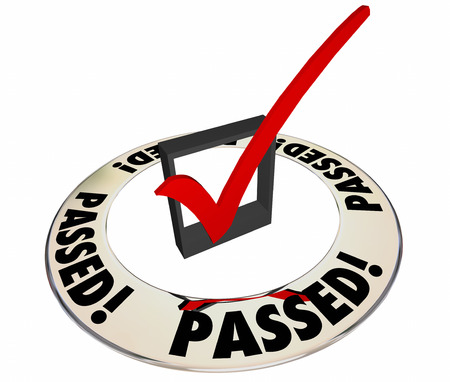 pass test: Passed Review Inspection Evaluation Assessment Good Results Check Box Word