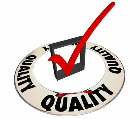 evaluated: Quality Check Mark Box Ring Great Excellent Job Work Product Stock Photo