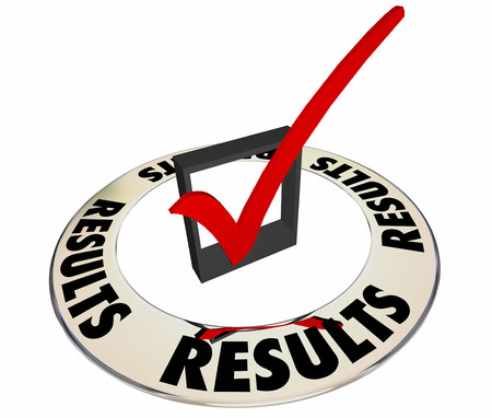 inspected: Results Good Desired Outcome Goal Check Box Mark 3d Word Stock Photo