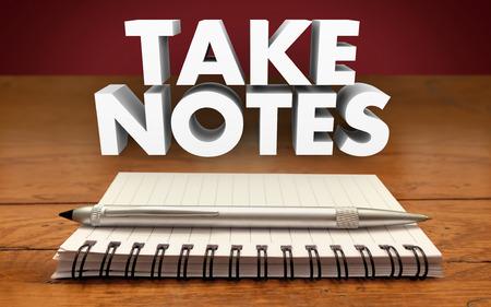 Prendre des notes Rappelez-vous Réunion Conférence Rappel Informations importantes