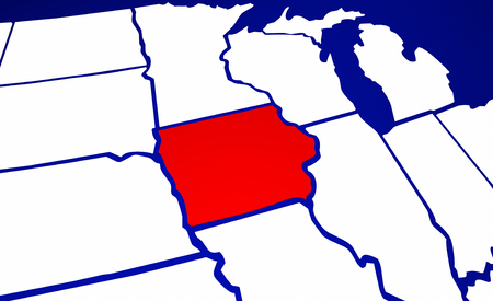 ia: Iowa IA State United States of America 3d Animated State Map