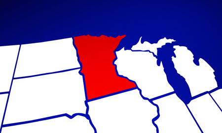 mn: Minnesota MN State United States of America 3d Animated State Map