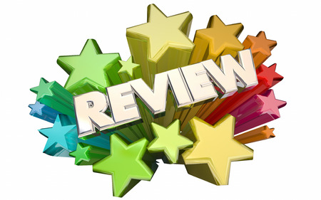 Review Feedback Evaluation Assessment Recommendation Stars 3d Word