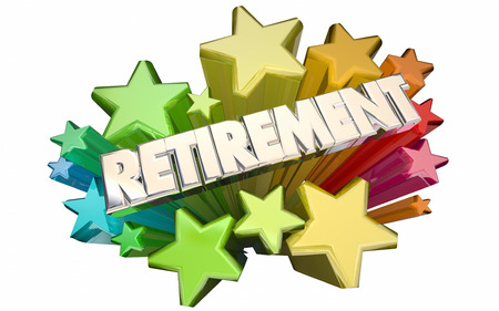 ending: Retirement Farewell Going Away Employment Ending 3d Stars Words Stock Photo