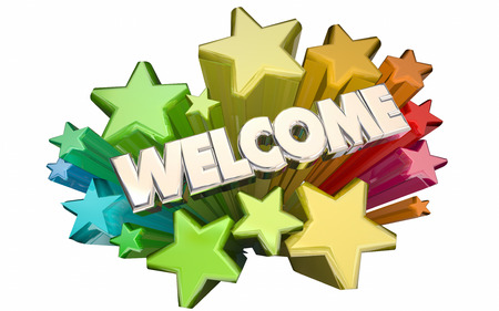 joining services: Welcome Stars Greetings Word 3D Animation