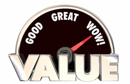 better performance: Value Top Best High Good Buy Purchase Speedometer 3d Words