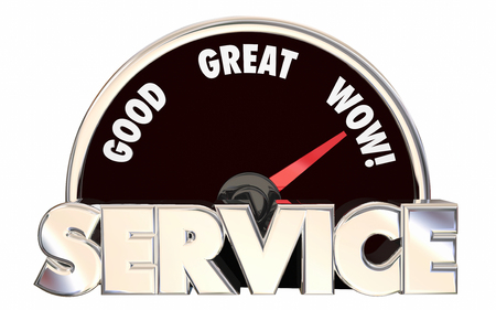 best service: Best Service Top Rated Company Business Speedometer Words 3D
