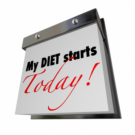 tearaway: My Diet Starts Today Words Calendar Lose Weight Now