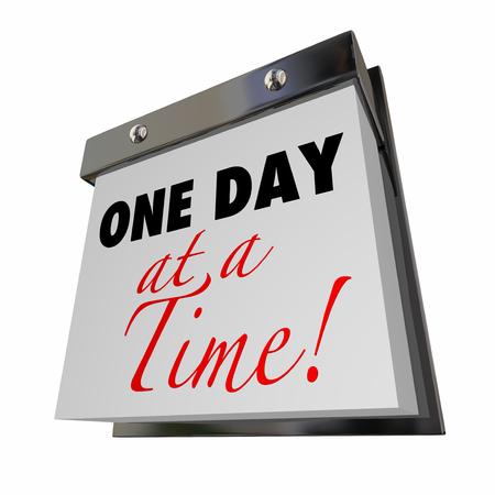 uno: Un día a la vez del calendario Palabras paciencia bajar de peso Alcoholismo