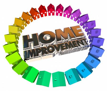 contractors: Home Improvement Project Job Task Houses 3d Words Contractor