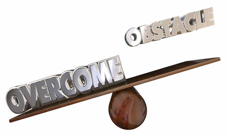 getting better: Overcome Obstacle See Saw 3d Words Beyond Problem