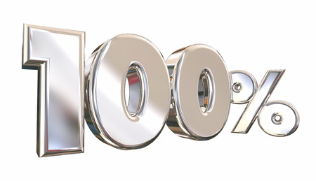 3d animation: 100 Percent One Hundred Full Amount Number 3d Animation