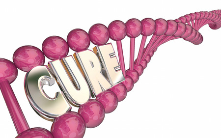 medical cure: Cure DNA Strand Word Medical Breaktrhough Vaccine Disease