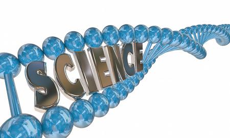 metodo cientifico: Ciencia Palabra de ADN Strand Educación Médica de Investigación 3d Foto de archivo