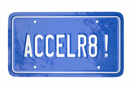 license plate: Accelerate Drive Fast Speed Racing Car License Plate Word