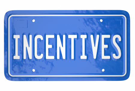 license plate: Incentives Attract Car Shoppers Buy Auto Vehicle Rebate License Plate