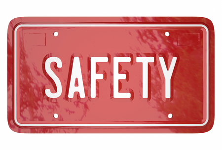 Safety Driving Skills Car Vehicle Automobile License Plate 3d Word