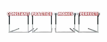 hurdles: Constant Practice Makes Perfect Jumping Over Hurdles
