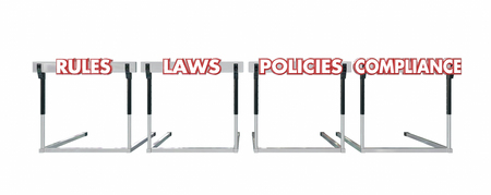 hurdles: Rules Laws Policies Compliance Jumping Hurdles Legal Business