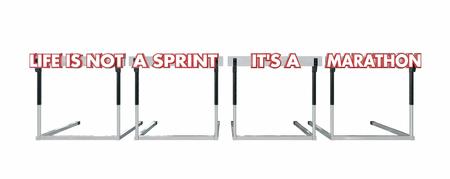 no correr: La vida no es un Sprint es un marat�n de vallas de salto 3d