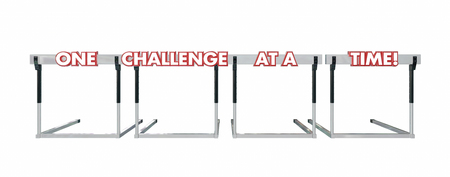 hurdles: One Challenge at a Time Hurdles Goal Overcome Problems Trouble