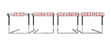 hurdles: Plan Prepare Practice Perform Jumping Over Hurdles Achieve Success