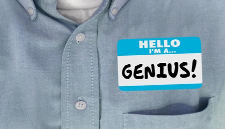 prodigy: Genius inteligentne Inteligentny Wykształcony Name Tag koszulka Naklejka Słowo