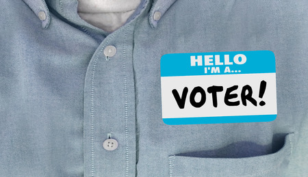 delegar: Hola soy una Pol�tica de votantes de la elecci�n Delegado Nombre Camisa de la etiqueta
