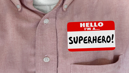 happy client: Satisfied Customer Happy Client Nametag Shirt Words Stock Photo