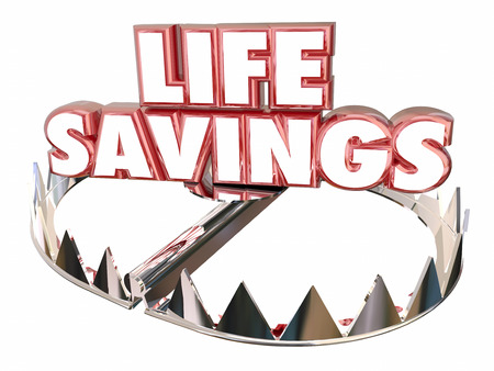 protect money: Life Savings Protect Money Wealth Resources Bear Trap 3d Words
