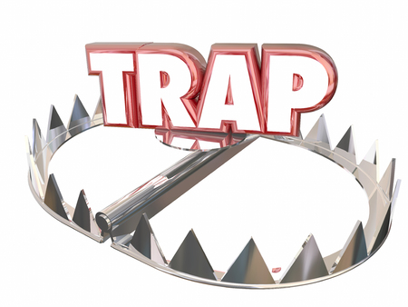 booby trap: Trap Ambush Risk Danger Avoid Bear 3d Word
