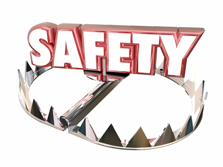 bear trap: Safety Avoid Danger Protection Security Bear Trap 3d Word